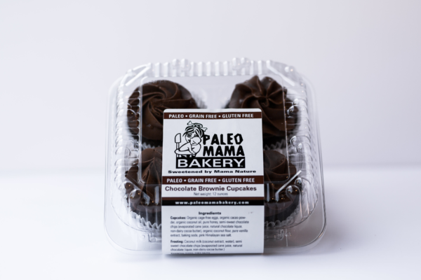 chocolate brownie cupcake paleo mama bakery