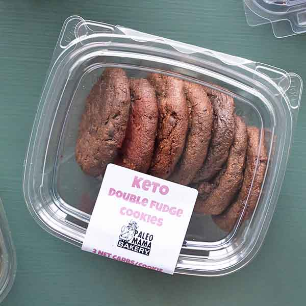 double fudge keto cookies at paleo mama bakery